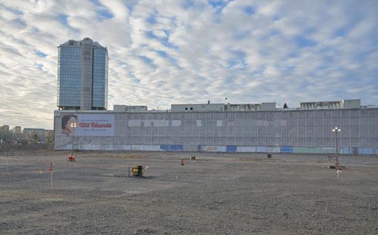 Das ehemalige Råsunda Stadion, abgerissen, November 2014