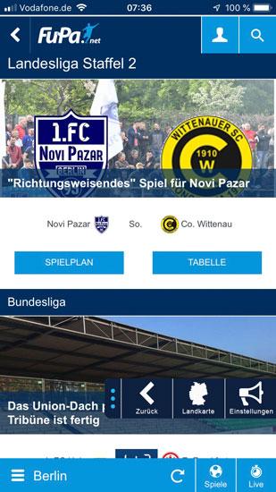 FuPa Berlin, App