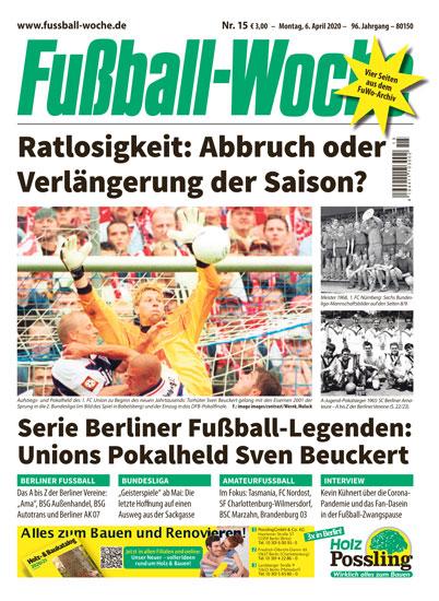 Fussball-Woche-Titel April 2020 Copyright Fussball-Woche